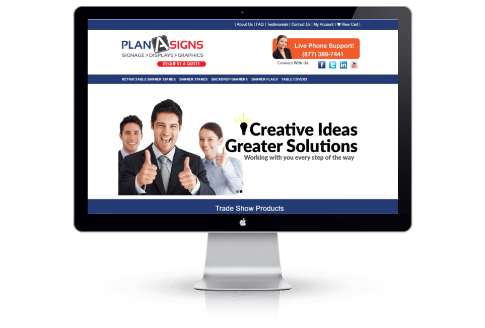 WordPress Sign Company Website Desig